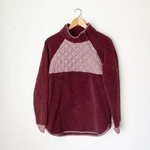 Natural Reflections Burgundy Sherpa Pullover Med